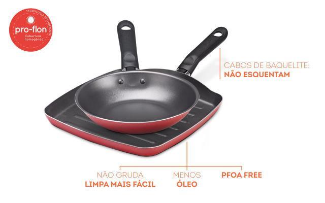 Imagem de Conjunto De Grill E Frigideira De 2 Peças Garlic -  Brinox