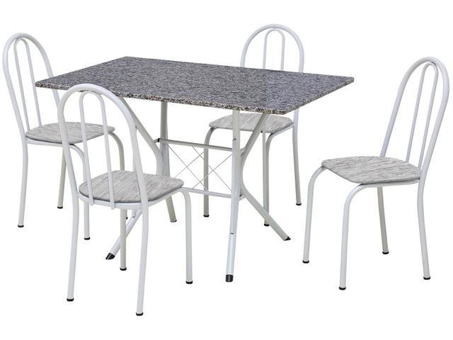 Imagem de Conjunto de Mesa 4 Cadeiras Artefamol