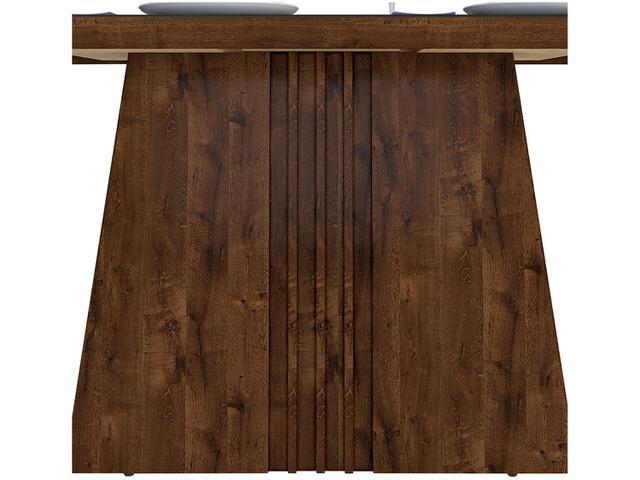 Imagem de Conjunto de Mesa 4 Cadeiras Estofadas