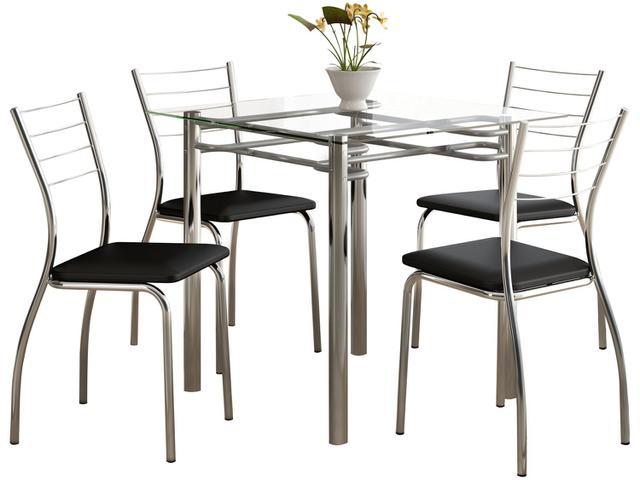 Imagem de Conjunto de Mesa 4 Cadeiras Móveis Carraro