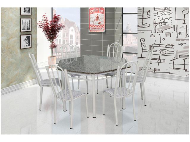 Imagem de Conjunto de Mesa 6 Cadeiras Artefamol