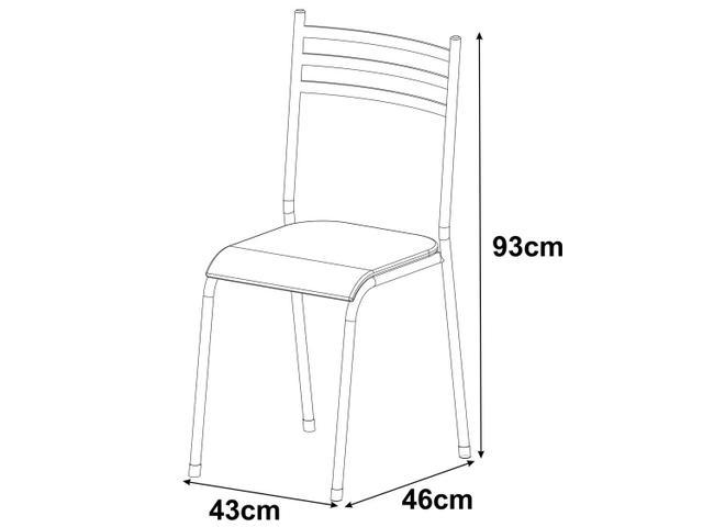 Imagem de Conjunto de Mesa Aço carbono com 4 Cadeiras