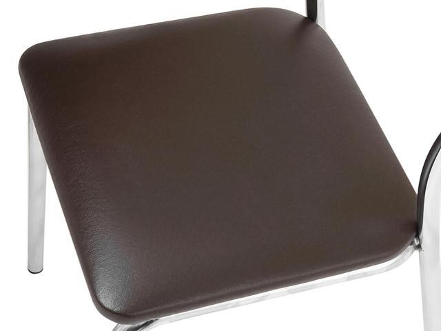 Imagem de Conjunto de Mesa Aço Cromado com 4 Cadeiras