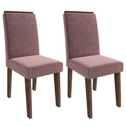 Imagem de Conjunto de Mesa Clara para Sala de Jantar com 6 Cadeiras Taís Moldura -Cimol