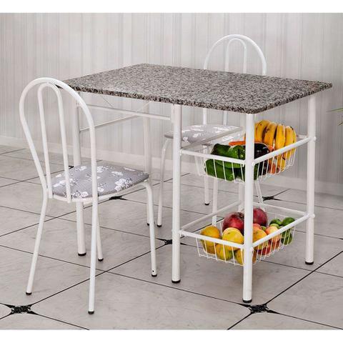 Imagem de Conjunto de Mesa com 2 Cadeiras Alice Iguatemi Branco