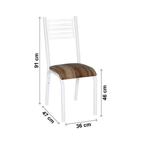 Imagem de Conjunto de Mesa com 4 Cadeiras Camila Clássica Ciplafe Branco/Capucino