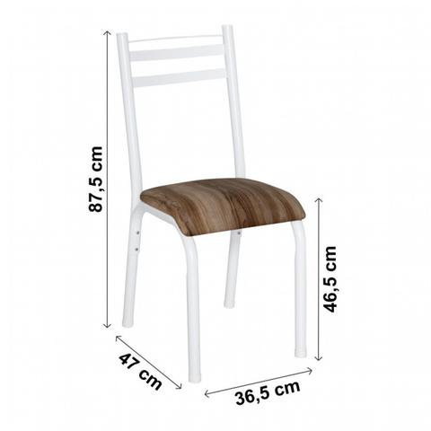 Imagem de Conjunto de Mesa com 4 Cadeiras Plaza Clássica Ciplafe Branco/Capuccino
