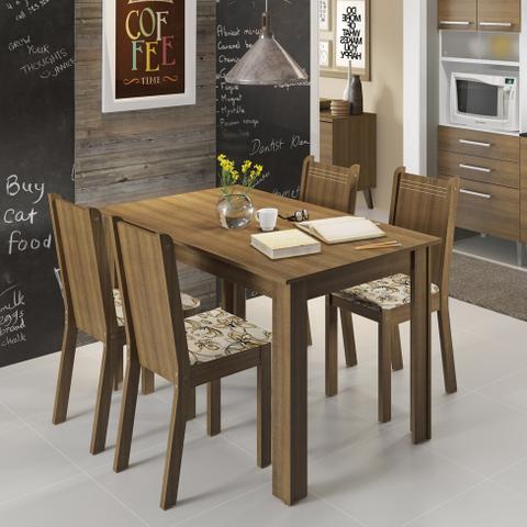 Imagem de Conjunto de Mesa com 4 Cadeiras Rosie Rustic e Lírio Bege