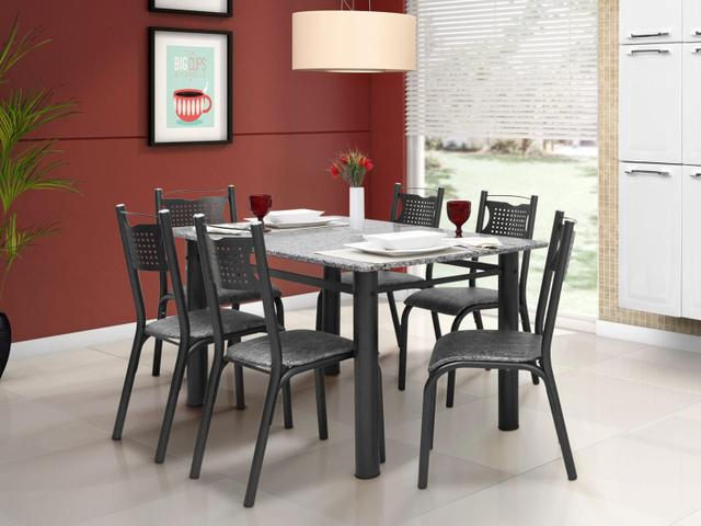 Imagem de Conjunto de Mesa com 6 Cadeiras