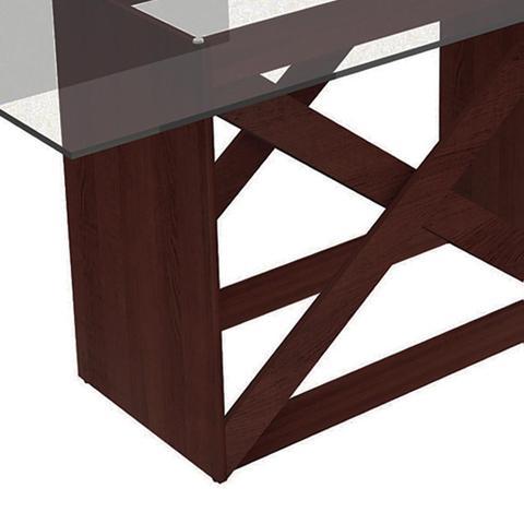 Imagem de Conjunto de Mesa com 6 Cadeiras Denver Tabaco Hibiscos