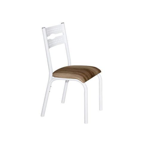 Imagem de Conjunto de Mesa com 6 Cadeiras Luna Clássica Ciplafe Branco/Capuccino