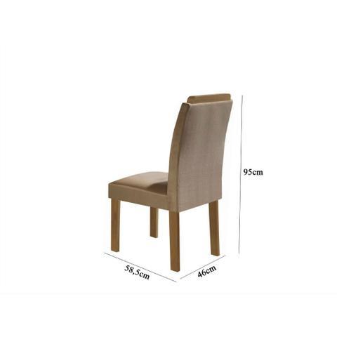 Imagem de Conjunto de Mesa com 6 Cadeiras Pietra LJ Móveis