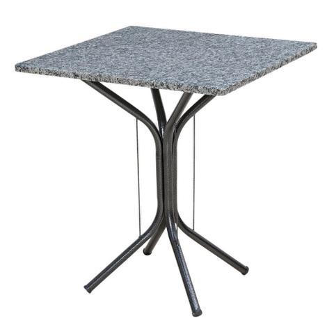 Imagem de Conjunto de Mesa Granito Artefamol Thais Base 3009 com 4 Cadeiras 004 Preto Capitonê