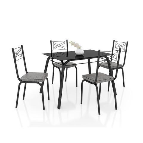 Imagem de Conjunto de Mesa Lotus 107 cm com 4 cadeiras 119 Artefamol