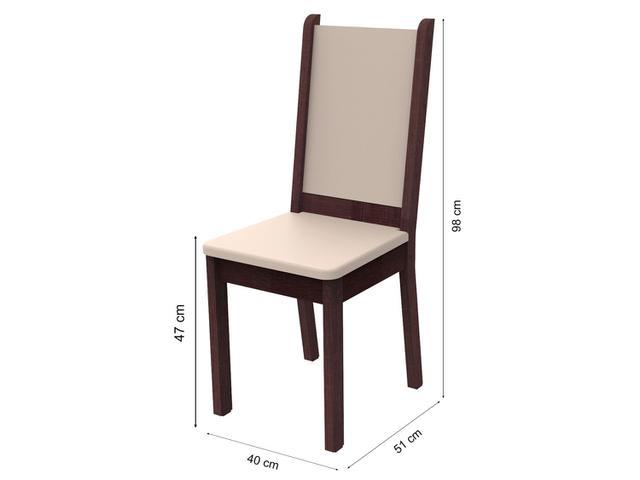 Imagem de Conjunto de Mesa Madeira com 6 Cadeiras Estofadas