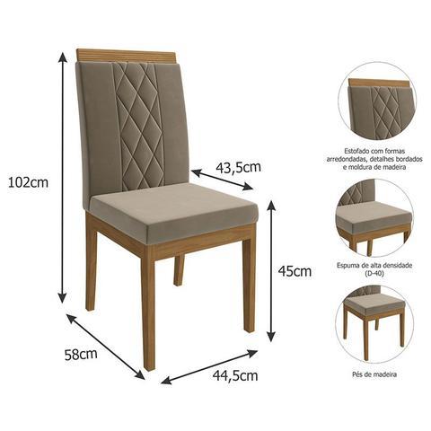 Imagem de Conjunto de Mesa para Sala de Jantar Ana com 8 Cadeiras Alice-Cimol