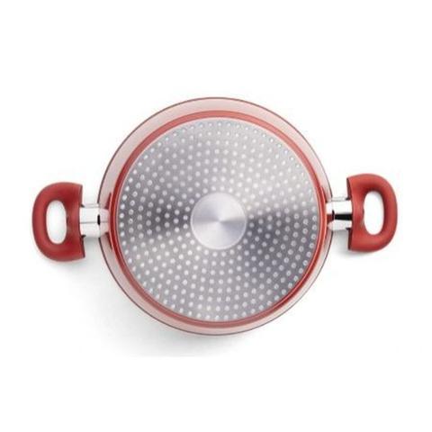 Imagem de Conjunto De Panela Com Panela Frigideira Ceramic Life Optima Vermelho 5 Peças