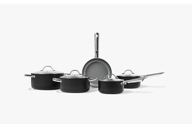 Imagem de Conjunto De Panelas 5 Peças Antiaderente Curry Preto Fosco - Brinox