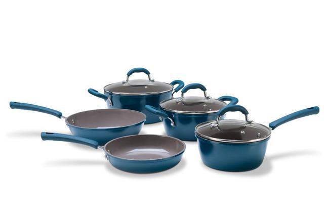Imagem de Conjunto de Panelas 5 Peças Ceramic Life Select Musgo Brinox