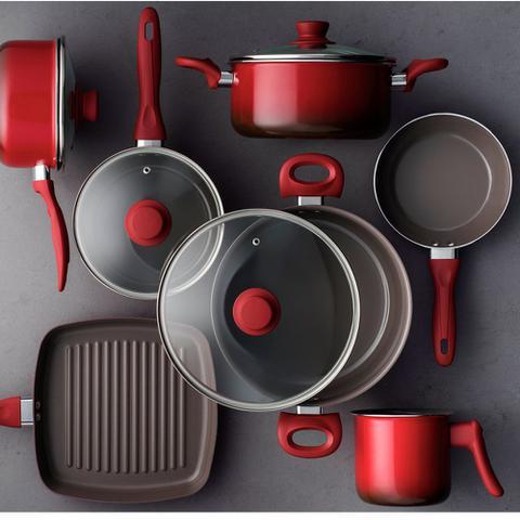 Imagem de Conjunto de Panelas 7 Peças Ceramic Life Smart Brinox
