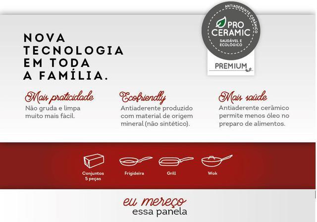 Imagem de Conjunto De Panelas Antiaderente 5 Peças Ceramic Life Optima Carmin - Brinox
