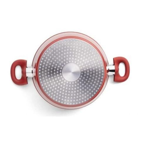 Imagem de Conjunto de Panelas Brinox Cerâmica Life com Fundo Indução Optima 5 Peças - Vermelho