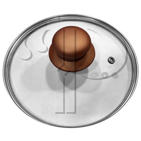 Imagem de Conjunto de Panelas Casambiente Revestimento Cerâmica Vegas 10 Peças Preto e Cobre