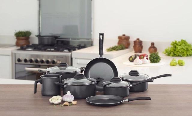 Imagem de Conjunto de Panelas Ceramic Life Smart Plus Revestimento Cerâmico 8 Peças Preto - Brinox
