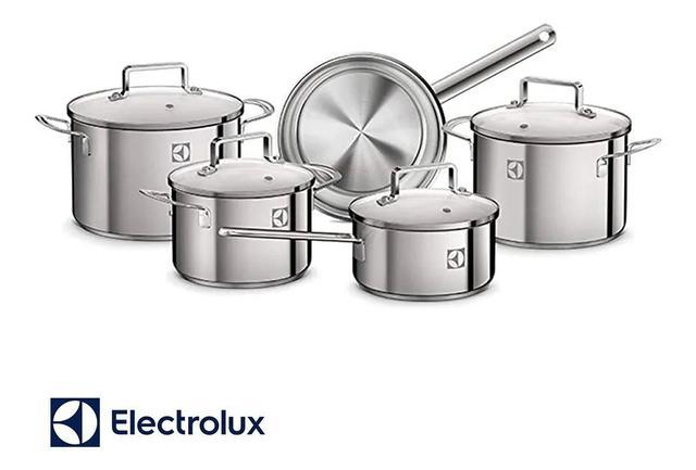 Imagem de Conjunto De Panelas Electrolux A15344901 - 5 Peças Inox Indução