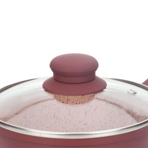 Imagem de Conjunto de Panelas Indução Viena 5 Peças Revestimento Cerâmica 4,5mm - Casambiente