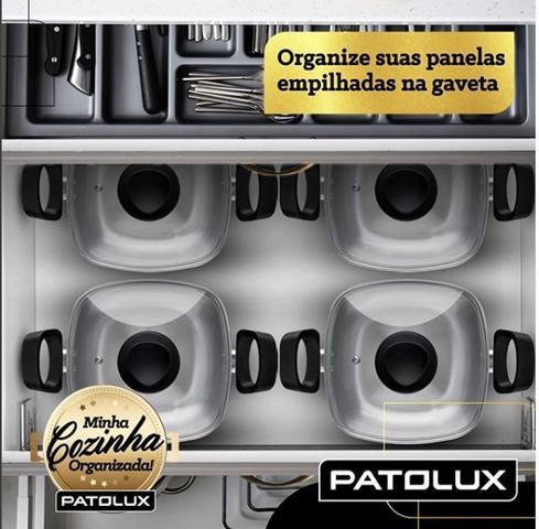 Imagem de Conjunto De Panelas Quadradas Patolux 5 Peças Alumínio Preto
