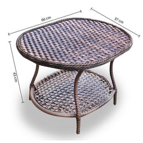 Imagem de Conjunto de Poltronas Fibra Sintética Karibe - 4 Poltronas + 1 Mesa Centro - Tecido Saquarema