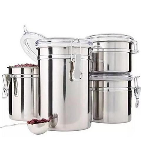 Imagem de Conjunto de Potes Herméticos com 4 Potes
