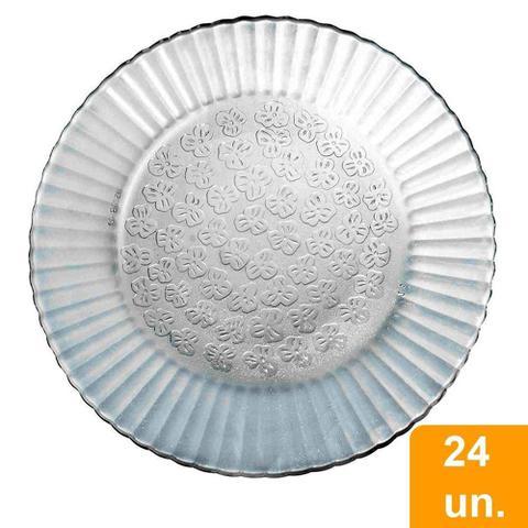 Imagem de Conjunto de Pratos Duralex Fundo de Vidro Primavera 24 Peças
