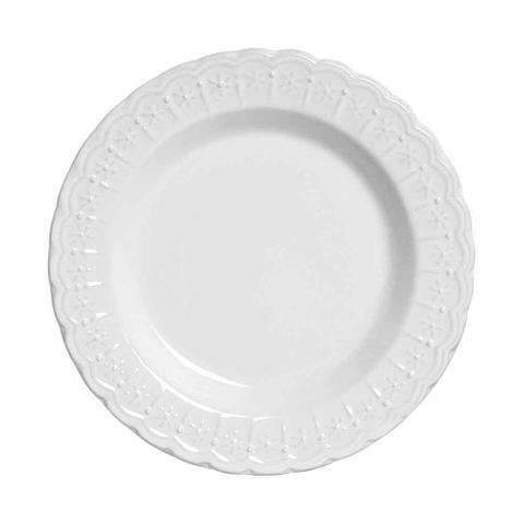 Imagem de Conjunto de Pratos Fundo Nobre Branco Scalla