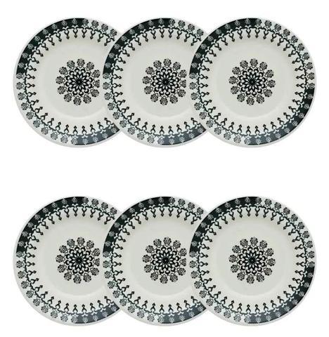 Imagem de Conjunto de Pratos Fundos Com 6 Peças 22cm - Donna Folk- Oxford