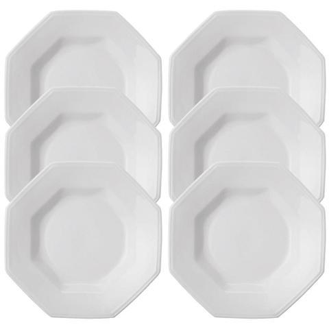Imagem de Conjunto de Pratos Schimidt Fundos de Porcelana Prisma 6 Peças