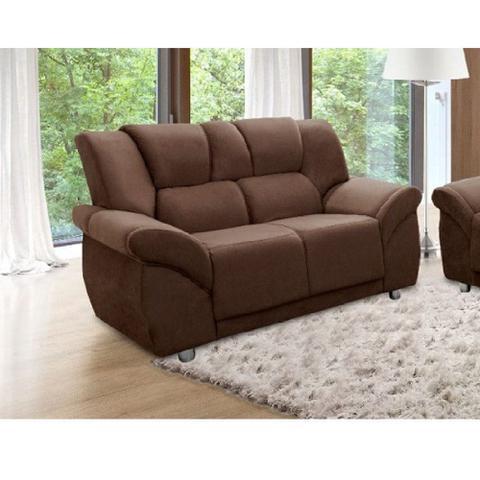Imagem de Conjunto de sofá Hellen 3 e 2 lugares Córdoba tecido suede golden - Marrom