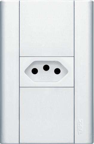 Imagem de Conjunto de Tomada 20A 2Pt com Placa Modulare Bivolt Branco