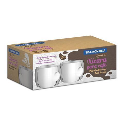 Imagem de Conjunto de xícaras para café aço inox 2 pç. Chá e café Tramontina