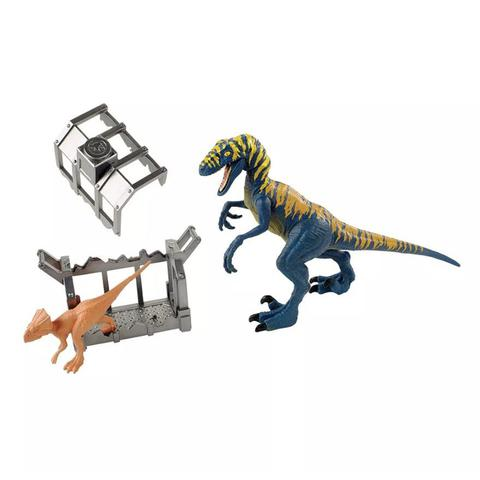 Imagem de Conjunto Destrutosauros Jurassic World Velociraptor e Microceratus - FTD09 - Mattel