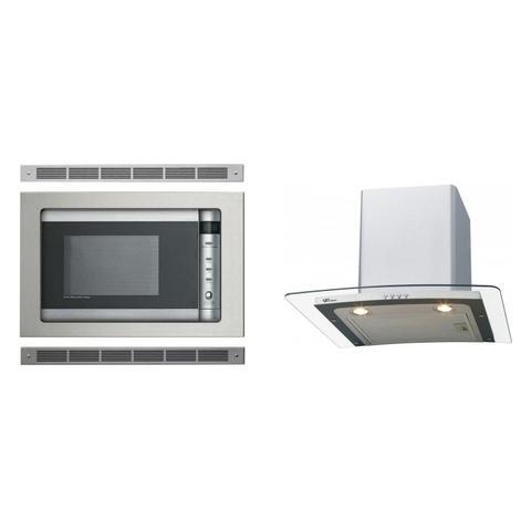 Imagem de Conjunto Forno Elétrico de Embutir 24L e Coifa de Parede com Vidro 60cm 220V MadeiraMadeira 440994 Cinza