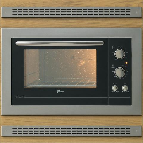 Imagem de Conjunto Forno Elétrico de Embutir 44L e Coifa com Vidro 90cm 220V Fischer Cinza