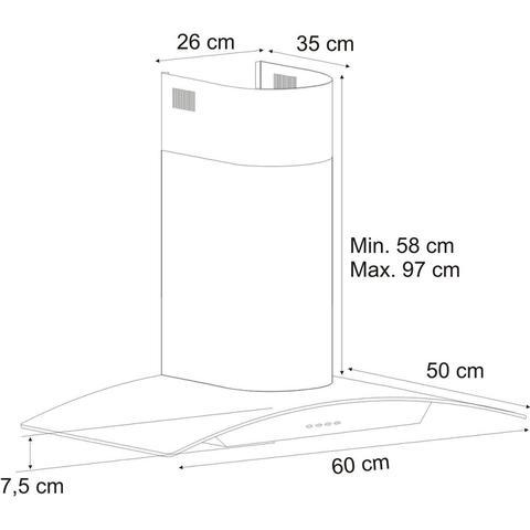 Imagem de Conjunto Forno Elétrico de Embutir 44L e Coifa de Parede 60cm 220V Fischer Cinza