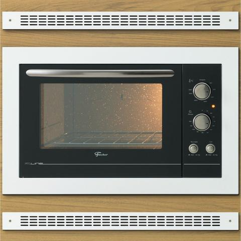 Imagem de Conjunto Forno Elétrico de Embutir 44L e Coifa de Parede 90cm 220V Fischer Branco