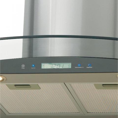 Imagem de Conjunto Forno Elétrico de Embutir 44L e Coifa de Parede com Vidro 90cm 220V Fischer Cinza