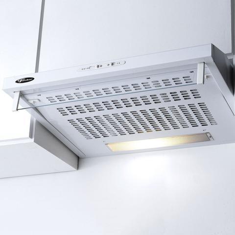 Imagem de Conjunto Forno Elétrico de Embutir 44L e Depurador 60cm 220V Fischer Branco