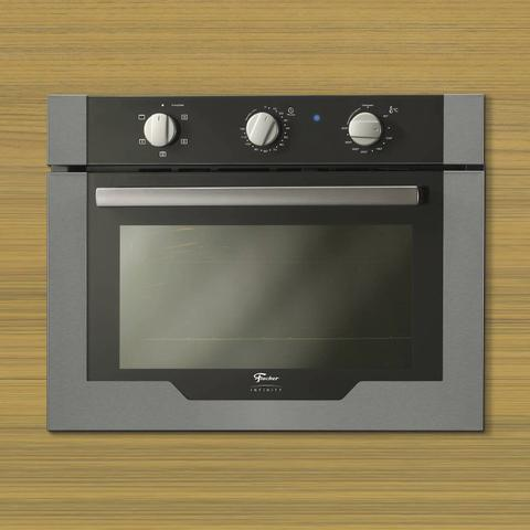 Imagem de Conjunto Forno Elétrico de Embutir 50L e Coifa com Vidro 90cm 220V Fischer Cinza