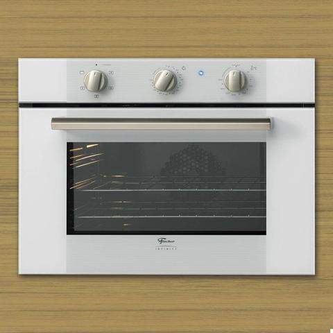 Imagem de Conjunto Forno Elétrico de Embutir 50L e Coifa de Parede 90cm 220V Fischer Branco