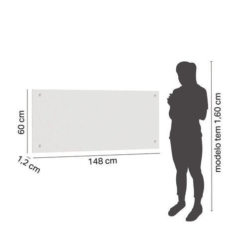 Imagem de Conjunto Guarda Roupa Modulado Canto Casal 2 Portas e Cabeceira 4 Peças Sauá CabeCasa MadeiraMadeira Branco